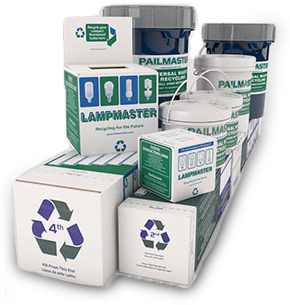 Recycle by mail with our Pre-Paid Lampmaster Recycling Kits!