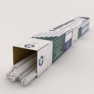 8FT Recycling Fluorescent Tubes Box