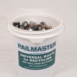 Our battery pails come in 3 sizes for different needs