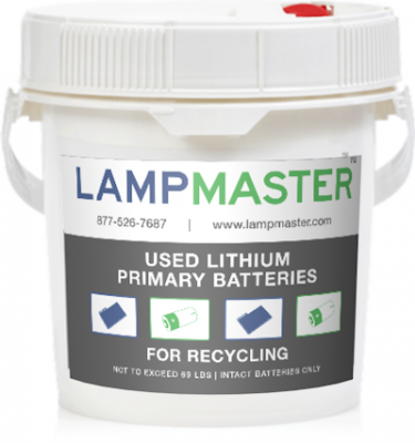 Lithium Primary Battery Recycling Kit 1 Gal